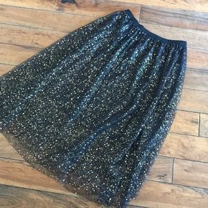 Large black/gold Layered Skirt